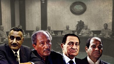 Photo of Egypt's Military Council from Nasser to Sisi