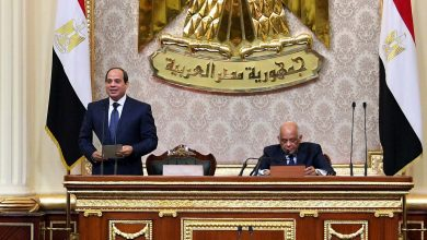 Photo of Sisi's oath of office and re-production of polarization