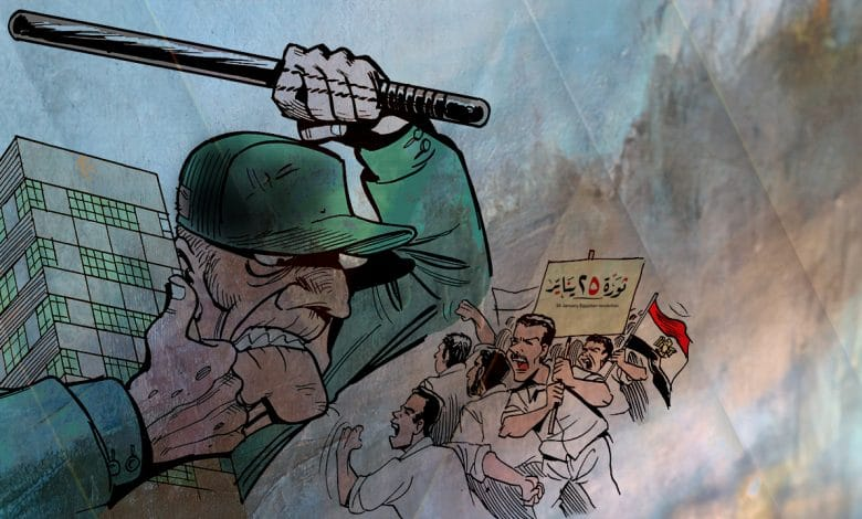 Egypt - January Revolution Coverage over 10 Years